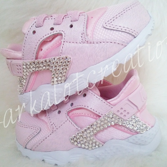 Bling nike huarache baby pink new f61350dc6904